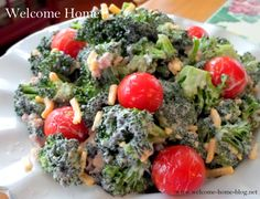 I really enjoy this salad. I am not a big broccoli lover but I do like to nibble on fresh broccoli when there...
