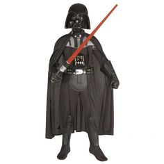 When your child walks into the room as Darth Vader you will have to suppress your fear. He will be running around in no time from Endor to Hoth using The Force to hunt down the remaining Jedi Knights. A red lightsaber, boots, and voice changer will make him feel like the real thing.