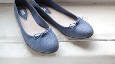 "{Bloch ""Jeanne"" Ballet Flat} such a sweet little flat - love the denim-look fabric"