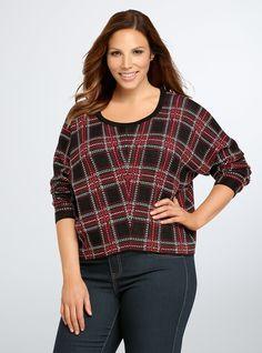 Plaid Crop Sweater | Torrid
