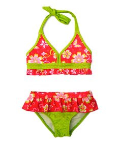 Red & Lime Floral Bikini - Infant & Toddler   zulily