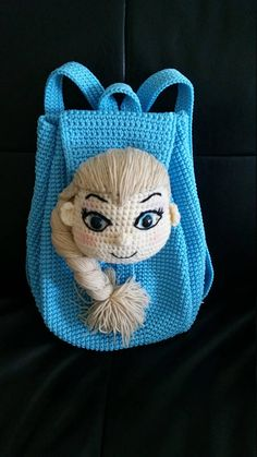 Soft Nylon crochet backpack gift that any child will love, its a very meaningful gift for your love one,perfect for all seasons of the year or holiday trip. The Frozen Queen Elsa head is the flap of the backpack, roomy backpack will hold childrens It must be a perfect gift for ALL Frozen fans and Disney princess lovers! - Measurement: 12(31cm) tall , W 12(31cm) - The straps are 26 long with adjustable. MATERIALS - This bag was made of SOFT NYLON and stuffed with synthetics fiberfill. - The…