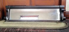 Antique Beveled sideboard Mirror antique buffet mirror with