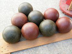 Vintage Bocce Balls   Assemblage   Etsy