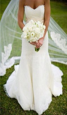 I am in love with this wedding gown.