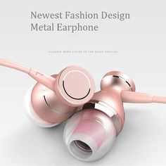Promotion New Fashion Magnet Metal Earphone Universal 3.5MM Hands Free Headset Earphone with Mic for Mobile Phone MP3 Player