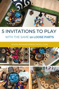 Learn how to create simple and easy invitations to play for your whole learning environment with the same 10 loose parts.  Make your planning easy! Outdoor Education, Early Education, Reggio, Plant Experiments, Learning Environments, Early Learning, Light Table, Craft Stores, Kids Playing
