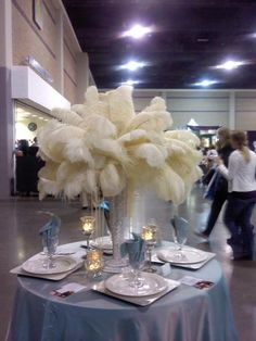 Not for me, BUUUUT, a good DIY discussion on this plume and pearl centerpiece.