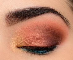 A Gold, Copper, & Brown with Pop of Teal using Wet 'n 'Wild Not a Basic Peach | Temptalia