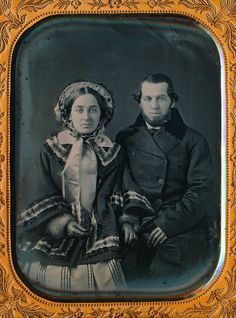 ASTONISHING 1/4 PLATE DAGUERREOTYPE - ID'ED COUPLE IN SCALLOPED UNION CASE-RARE! in Collectibles, Photographic Images, Vintage & Antique (Pre-1940), Daguerreotypes | eBay