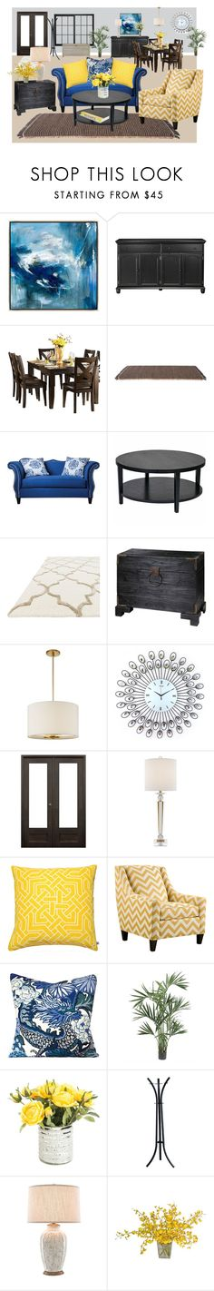 """""""Living area"""" by norma-licata ❤ liked on Polyvore featuring interior, interiors, interior design, home, home decor, interior decorating, Home Decorators Collection, Homelegance, Kettal and Furniture of America"""