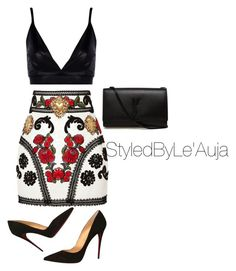"""Untitled #505"" by styledbyleauja on Polyvore featuring Boohoo, Dolce&Gabbana, Christian Louboutin and Yves Saint Laurent"
