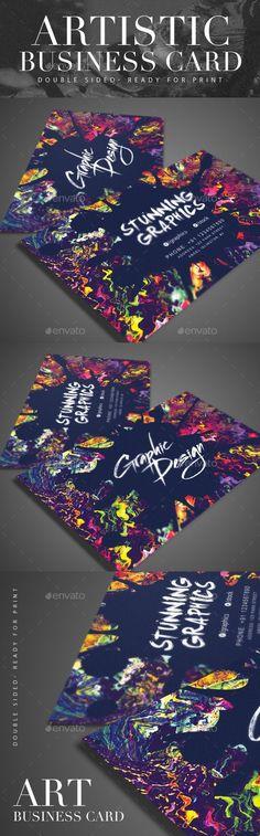 Artistic Business Card Template #design Download: http://graphicriver.net/item/artistic-business-card/12150408?ref=ksioks
