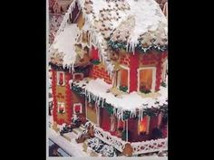 Created and made by Cindy Morris Mackey, this gingerbread house was made for and donated to the Orlando Museum Of Art, Festival of Trees event. It stands abo...