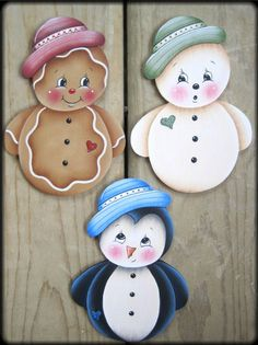 Roly Poly Ornaments Painting EPattern by GingerbreadCuties on Etsy