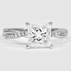 Platinum Petite Twisted Vine Diamond #Ring. http://jangmijewelry.com/
