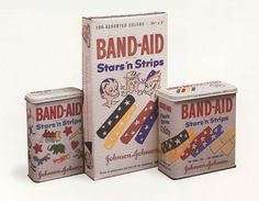 The Band - Aid was invented in 1920 by an employee of Johnson and Johnson and his wife so that she could treat her cuts and burns she recieved while cooking.