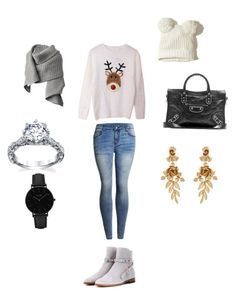 """""""Holiday day out"""" by itaayu on Polyvore featuring Balenciaga, Valentino, Acne Studios, Hollister Co., Oscar de la Renta and CLUSE"""