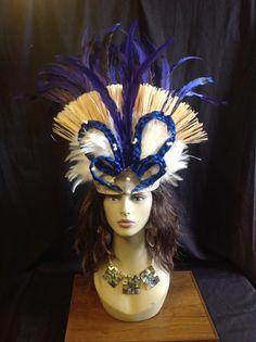 Tahitian/ Cook Island Boys or Girls Costume Headpiece .Weaved Lauhala Band, with Hau Bark, White Fresh Water Pearls,Mother of Pearl Shells.