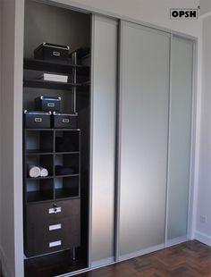Silver reflective wardrobe door