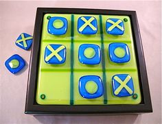 Design4Soul Fused Glass Tic Tac Toe Game by Design4Soul on Etsy. $48.00, via Etsy.