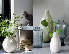 nice simple display. and I want that gray glassware!