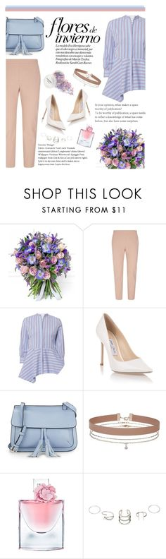 """""""#414"""" by blacksky000 ❤ liked on Polyvore featuring Philippa Craddock, Theory, Le Sarte Pettegole, Jimmy Choo, KC Jagger, Miss Selfridge and Lancôme"""