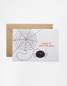 Ohh Deer Spider Greeting Card