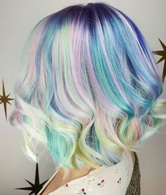 Chase the Rainbow  Love this beautiful pastel color confection and lob by @hairbymisskellyo @hairbymisskellyo  #hotonbeauty #hothairvids
