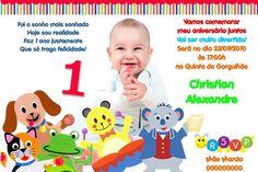 Convite digital personalizado Baby Einstein 001