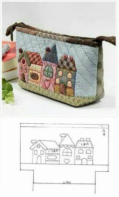 Japanese Patchwork, Patchwork Bags, Quilted Bag, Patchwork Ideas, Patchwork Patterns, Patch Quilt, Applique Quilts, Bag Patterns To Sew, Quilt Patterns