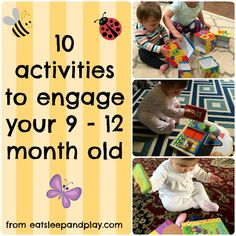 Super Baby Activities 9 Month Olds 53 Ideas 10 Month Old Baby Activities, List Of Activities, Montessori Activities, Infant Activities, Learning Activities, 10 Month Old Milestones, 11 Month Old Baby, 9 Month Olds, Diy Toys For 9 Month Old