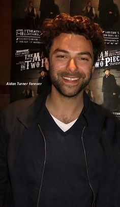aidan-turner-forever:  Aidan Turner at the production of The Man in Two Pieces at the Theatre Upstairs in Dublin on April 10, 2015. The theatre is located above Lanigan's Bar, well known as Dublin's theatrical watering hole. So if you're planning on visiting Ireland in search of Aidan, you should probably put this bar on your list. Aidan Turner Forever • www.facebook.com/aidan.turner.fan.page