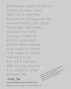 Magic .... you tricked me. #magic #lostinlove #romance #deceit #relationship #breakup #love #letgo #moveon #befree