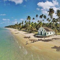Na Praia dos Carneiros, em Tamandaré (PE), dá para casar e já dar um mergulho logo em seguida para comemorar! Emoticon heart Foto: @gustavoalbano