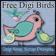 Free+Plaid+Pastel+Digi+Scrapbook+Birds+B+SS.jpg (900×900)