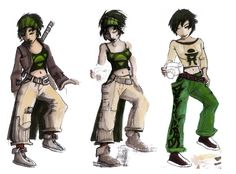 Concept art of Jade from Beyond Good & Evil. All share a nice almost monochromatic scheme that make the green really pop.