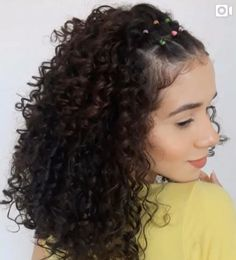 Hairdos For Curly Hair, Curly Hair Styles, Long Curly Hair, Medium Hair Styles, Natural Hair Styles, Natural Curly Hairstyles, Cute Short Curly Hairstyles, Hair Medium, Hair Videos