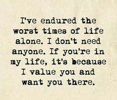 I don't need anyone ....