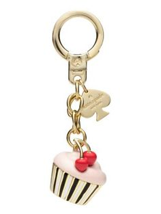 Kate Spade Cupcake Keychain Multi ONE from kate spade new york. Shop more products from kate spade new york on Wanelo. Dkny Handbags, Kate Spade Handbags, Leather Handbags, Fitness Watches For Women, Cute Keychain, Key Fobs, Jewelery, Pandora, Biscuit