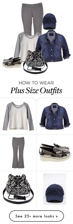 """""""Saturday (plus)"""" by kneesaasmom on Polyvore featuring maurices, RVCA, STELLA McCARTNEY and Charlotte Russe"""
