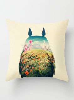 Totoro from the most beloved Studio Ghibli's My Neighbor Totoro animation movie. This shirt features a beautiful illustration of a cherry blossom inside the body of Totoro, a beautiful shirt that the fans of the movie will love! Totoro Pillow, My Neighbor Totoro, Diy Décoration, Dot And Bo, My New Room, Studio Ghibli, Decoration, Best Sellers, Cool Stuff