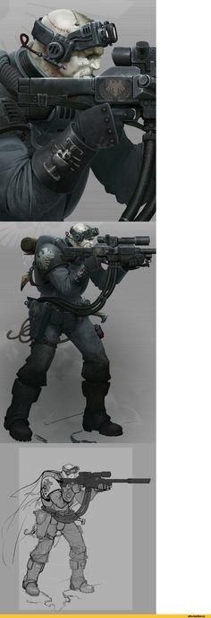 DeathWatch - Raven Guard Scout Sniper