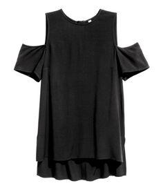 Cold-shouldertop | Zwart | Dames | H&M NL