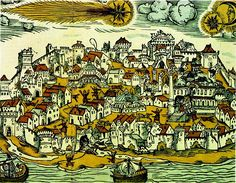 The May 10 1556 Istanbul (Constantinople) earthquake and comet. Herman Gall, 1566.