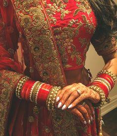 bangles, nails, and punjabi bride image
