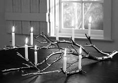 scary twig candle holder