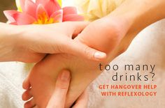 A New Hair of the Dog Tips for curing a hangover with reflexology ~ To get rid of a headache, press the fleshy part of both big toes, just behind the nail. You can apply firm pressure here. Some people even use clothespins on their big toes to prevent and relieve headaches.