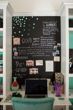 Teen Bedroom Chalkboard Wall