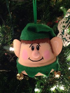 Clay pot elf I made! Clay pot elf I made! Holiday Crafts For Kids, Christmas Ornaments To Make, Christmas Makes, Christmas Projects, Christmas Diy, Christmas Crafts, Christmas Decorations, Flower Pot Art, Clay Flower Pots